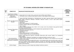 trt istanbul müdürlüğü hizmet standartları