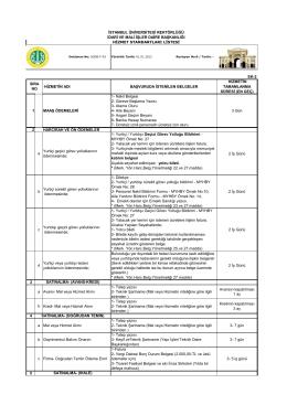 Hizmet Standartları Tablosu - İstanbul Üniversitesi | İdari ve Mali