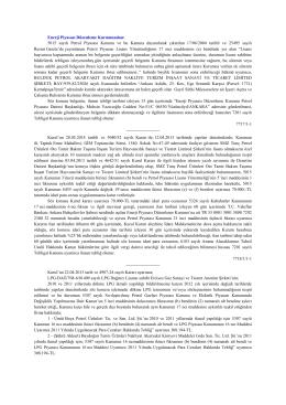 Enerji Piyasası Düzenleme Kurumundan: 5015 sayılı