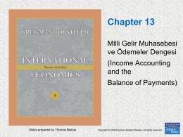 Chapter 13. National Income Accounting and the Balance of Payments