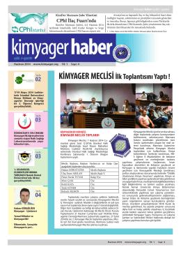 KİMYAGER MECLİSİ İlk Toplantısını Yaptı !