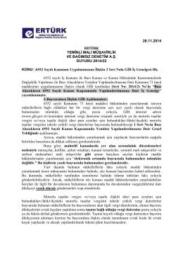 6552 Sayılı Kanunun Uygulanmasına İlişkin 2 Seri Nolu GİB İç