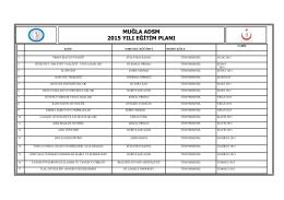 muğla adsm 2015 yılı eğitim planı