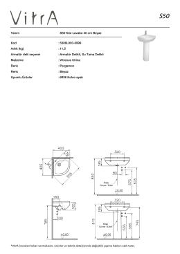 Tanım S50 Köe Lavabo 40 cm Beyaz Kod :5306L003-0999