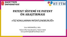 Patent Ön Araştırması Eğitim Seminer 2