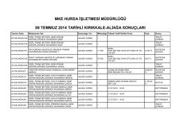 08 temmuz 2014 tarihli kırıkkale
