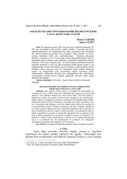 yatay kesit veri analizi - Çankırı Karatekin Üniversitesi