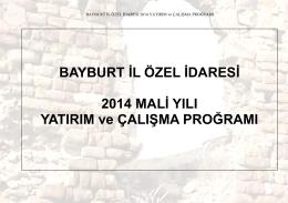 2014 mali yili yatirim ve calisma programi