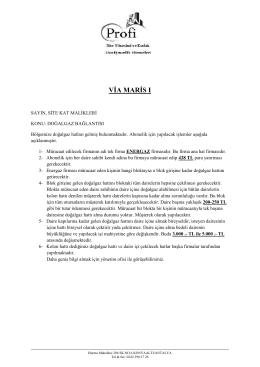 via maris 1 - Profi Yönetim