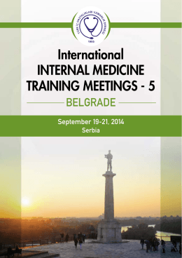 5 Belgrade / Serbia September 19-21, 2014