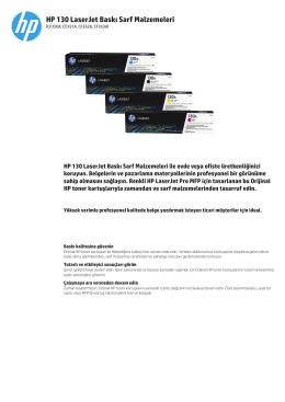 HP 130 LaserJet Baskı Sarf Malzemeleri
