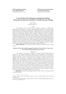 7. Sınıf Türkçe Ders Kitaplarının Şekil-İçerik