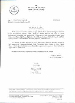 onay ve liste - bağlar ilçe millî eğitim müdürlüğü