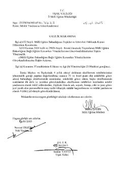 Müdür Yardımcısı Görevlendirmeleri 05.01.2015 17:02