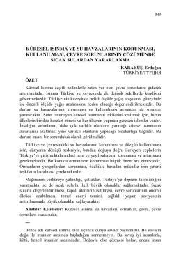 KARAKUŞ, Erdoğan-KÜRESEL ISINMA VE SU