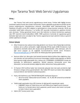 Hpv Web Servisleri Entegrasyon Kılavuzu V2.0 İndir