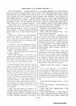 Meclisi Mebusan t: 28 25 Haziran 1328 (1912) C : 1 ESAT PAŞA