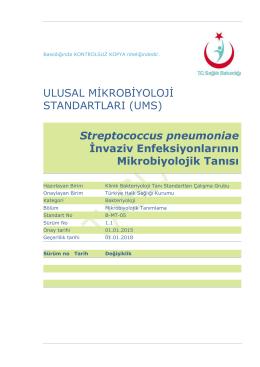 Streptococcus pneumoniae invaziv enfeksiyonları
