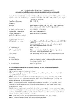Şanlıurfa Emniyet Müdürlüğü Kent Güvenlik Yönetim