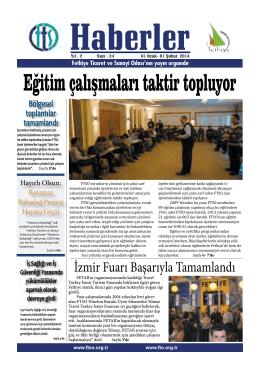 Ocak 2014 - Fethiye Ticaret ve Sanayi Odası