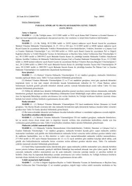 Maliye Bakanlığı Parasal Sınırlar 2014