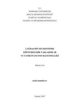 Çağdaş Epistemoloji ve tanrı