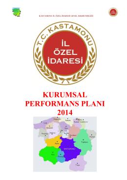 2014 Yılı Performans Planı - Kastamonu İl Özel İdaresi