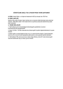 1 6- Sistem ile birlikte aşağıda belirtilen özelliklerdeki tran