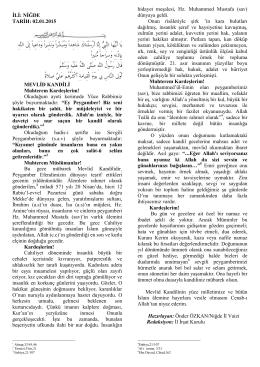 Pdf belgesi olarak - niğde il müftülüğü