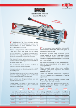 Ceramic Tile Cutter - Kristal Cutting Tools Ltd.