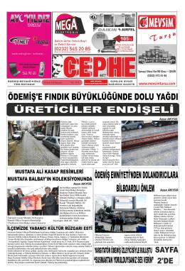 30.01.2014 Tarihli Cephe Gazetesi
