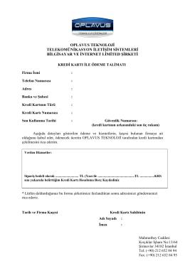 OPLAVUS Mail Order Formu