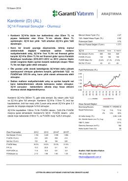 Kardemir (D) (AL) - Garanti Yatırım