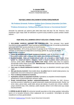 OtoGüncel Kış Bakımı Özel Dosya (PDF)