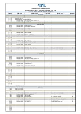grade 9 exam schedule - SEV American College