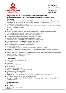 BARIŞ APARTMANI - Aquatex İzolasyon Sistemleri