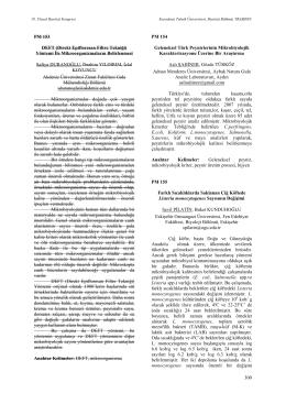 Geleneksel Türk Peynirlerinin MikrobiyolojikKarakterizasyonu