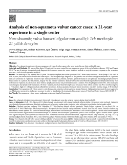 Analysis of non-squamous vulvar cancer cases: A 21