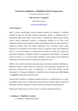 Uluslararası Kütüphane ve Bilgibilim Felsefesi Sempozyumu