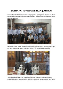 satranç turnuvasında şah mat - Kocaeli Büyükşehir Belediyesi