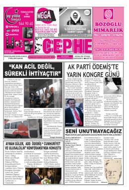 29.11.2014 Tarihli Cephe Gazetesi