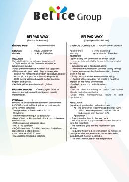 BELPAR WAX BELPAR WAX