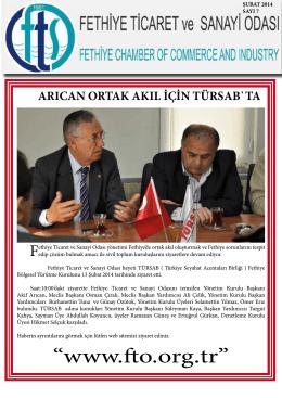 E Bülten Sayı 7 - Fethiye Ticaret ve Sanayi Odası