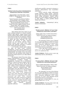 Teucrium polium L. Bitkisine Ait Uçucu YağınAntibakteriyal