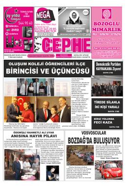 1.11.2014 Tarihli Cephe Gazetesi