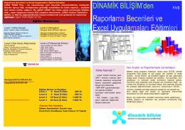 İleri Raporlama ve Excel