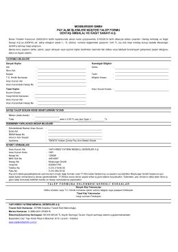 2014-Çağrı İşlemleri Pay Alımı Bilgi Formu