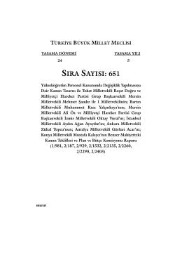 651 - Türkiye Büyük Millet Meclisi