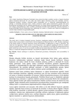 Bilgi Ekonomisi ve Yönetimi Dergisi / 2014 Cilt: IX Sayı