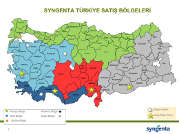 syngenta türkiye satış bölgeleri
